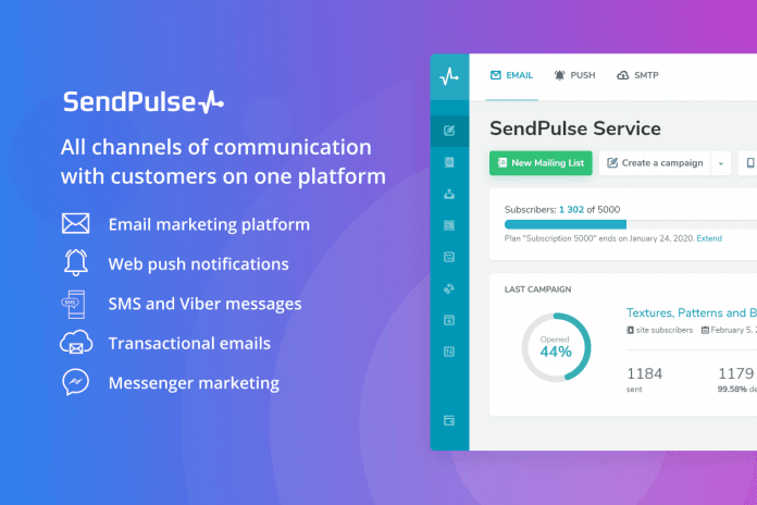 SendPulse para optimizar campañas de email marketing